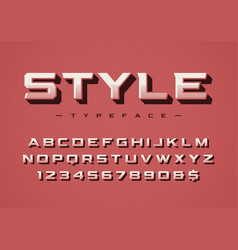 Style trendy retro display font design vector