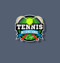 Tennis emblem or logo vector