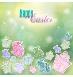 The feast passover with hares and gifts vector