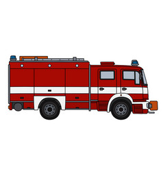 The red and white fire truck vector