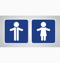 toilet sign on blue background vector image