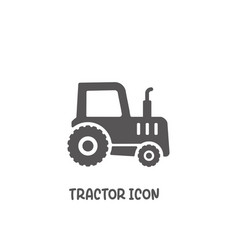 Tractor icon simple flat style vector