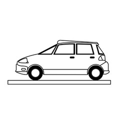 transport cartoon flat draw vector image