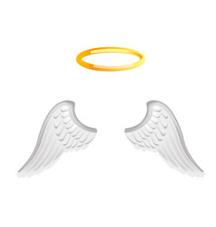 Video chat angel wings face selfie effect photo vector