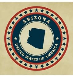 Vintage label Arizona vector image