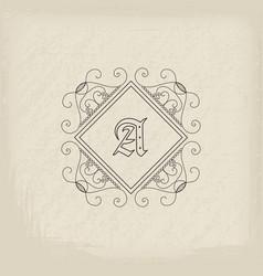 vintage monogram vector image