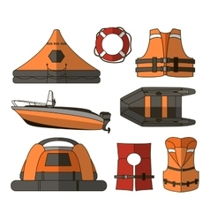 Water rescue set vector image