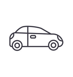 car sedan vehicle line icon sign vector image vector image