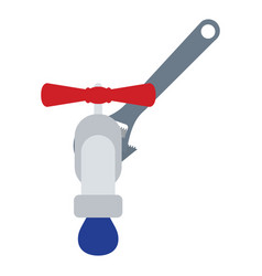 icon of wrench and faucet vector image