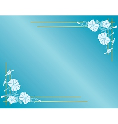 light blue card with flowers and gradient vector image