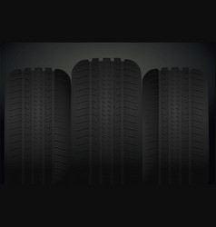 car tires background vector image vector image