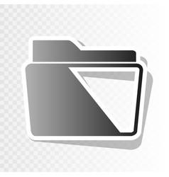 folder sign new year vector image