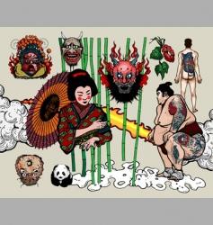 japanese tattoo design vector image