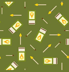 matches and matchbox seamless pattern vector image