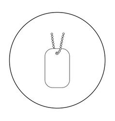 metal tags hanging on a chain icon outline single vector image