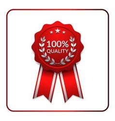 Ribbon award icon red 3 vector image