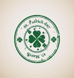 St Patrick's day stamp vector image