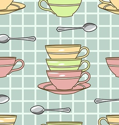 cups pattern vector image vector image