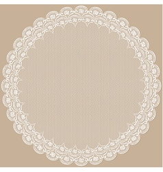 Round lacy frame vector image vector image