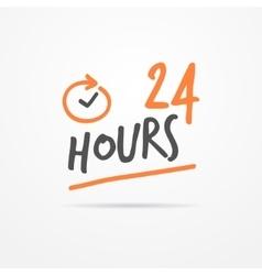 Twenty four hours label vector image vector image