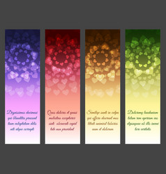 vertical abstract banner set vector image vector image