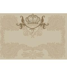 Vintage Ornate Royal Brown Background vector image