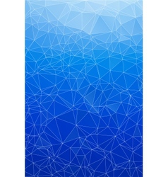 Blue ice abstract background polygon vector image