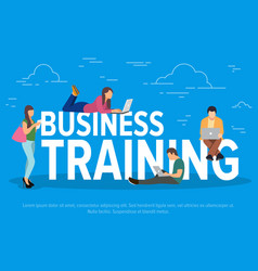 business training concept vector image