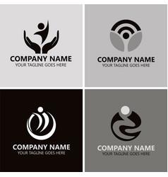 people success logos vector image