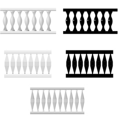 set of silhouettes balusters vector image