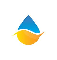 water drop bio ecology logo image vector image
