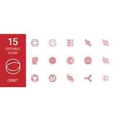 15 orbit icons vector