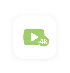 4k video icon play button vector image