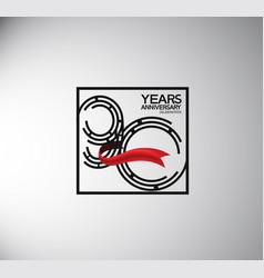 90 years anniversary logotype flat style vector