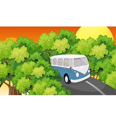 A bus travelling vector image