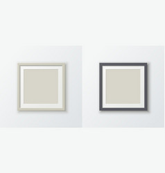 a set realistic square photo frames for placing vector image