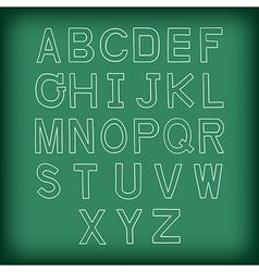 A to z uppercase alphabet hand drawn vector