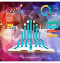 Abstract creative concept siluet hands of vector