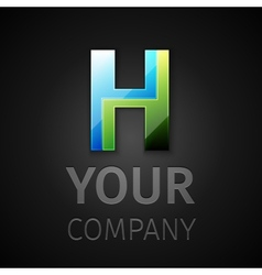 Abstract logo letter h vector
