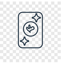 ace of clubs concept linear icon isolated on vector image