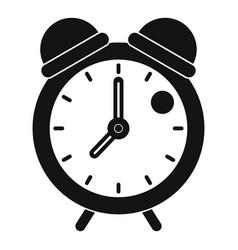 alarm clock retro classic design icon simple style vector image