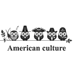 American culture vector image