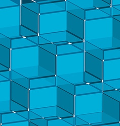 Background blue cube vector image