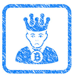 bitcoin king framed stamp vector image