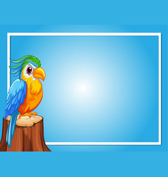 Border template with parrot bird vector
