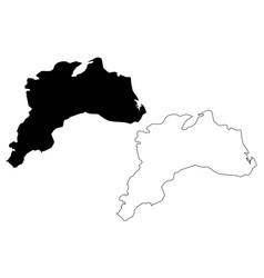 burdur map vector image