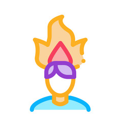 burning man head icon outline vector image