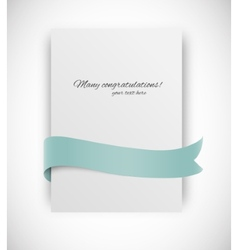 card with ribbon vector image