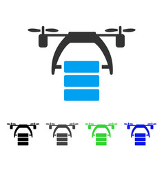 cargo drone flat icon vector image