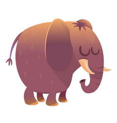 cartoon cute elephant vector image